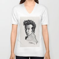 tom waits V-neck T-shirts featuring TOM WAITS by Simone Bellenoit : Art & Illustration