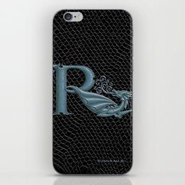 """Dragon Letter R, from """"Dracoserific"""", a font full of Dragons iPhone Skin"""
