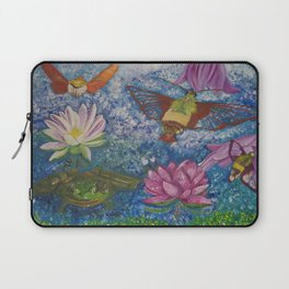 Hummingbird Moth and Frog Laptop Sleeve