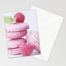 macarons and raspberries #society6 #buyart #decor Stationery Cards