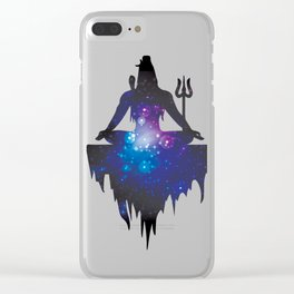 The Ancient Mystical Yogi Lord Shiva Clear iPhone Case