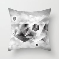 sacred geometry Throw Pillows featuring Sacred Geometry Four by Richard Seyb