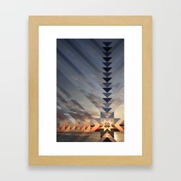 Sunburst (Sky Quilt 2) Framed Art Print