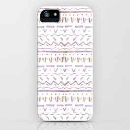 Sketchy Pattern in Sunrise iPhone Case