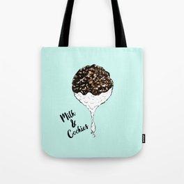 Cute Hand Drawn Foodie Cookies and Milk Tote Bag