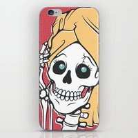 skeleton iPhone & iPod Skins featuring Skeleton by NathanJoyce