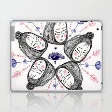 Mandala faces Laptop & iPad Skin