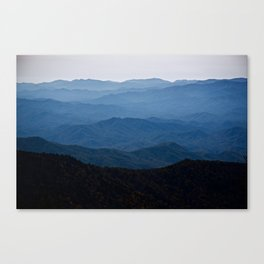 Shades of Blue- Smoky Mountains Canvas Print