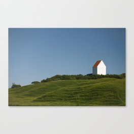 withe house Canvas Print