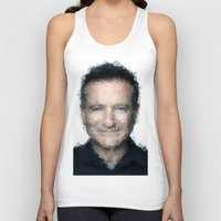 robin williams Tank Tops featuring Robin Williams by lauramaahs