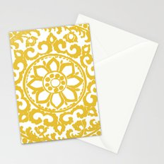 Mustard Yellow Ornament Stationery Cards