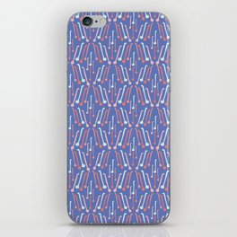 Tea Spoons Vector Cutlery Pattern Blue iPhone Skin