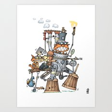 Steampunk Kobolds Art Print