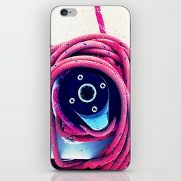 pink colored ship rope iPhone Skin