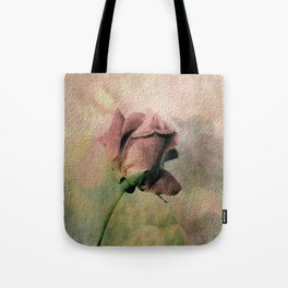 Painterly Pink Rose Bud Tote Bag
