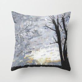 Sunset Hole Punch Throw Pillow