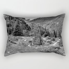 garden further alps kaunertal glacier tyrol austria europe black white Rectangular Pillow