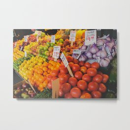 produce: Seattle Metal Print