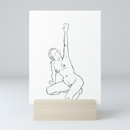 Nude life drawing figure illustration - Lena Mini Art Print
