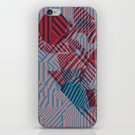 Dazzle Camo #02 - Blue & Red iPhone Skin