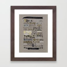 Stop and Just Do Framed Art Print
