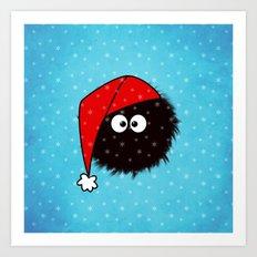 Cute Dazzled Bug Christmas Art Print