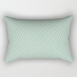Small Turquoise Boxes and Gold Lines Rectangular Pillow