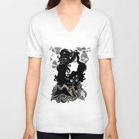 spring V-neck T-shirts featuring spring rain - by Viviana Gonzalez by Viviana Gonzalez