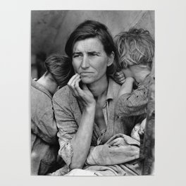 Migrant Mother Great Depression Poster