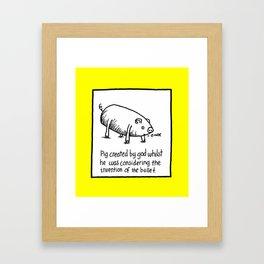 PIG BULLET Framed Art Print