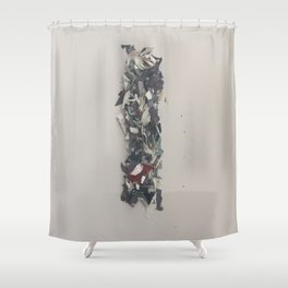 Letter I in Paint Shower Curtain