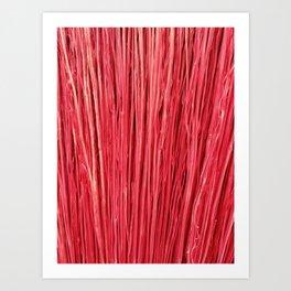 Red Brushwood Photography Art Print