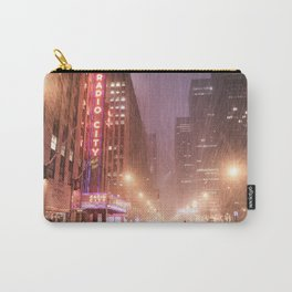 New York City - Blizzard and City Streets Carry-All Pouch