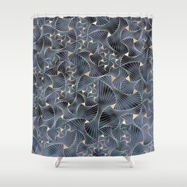 Reverie (in Grey and Gold) Shower Curtain