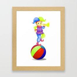 Trumpet Circus Framed Art Print