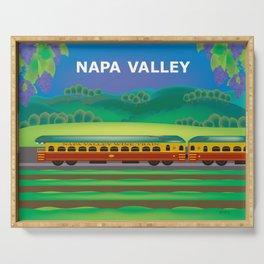 Napa Valley, California - Skyline Illustration by Loose Petals Serving Tray