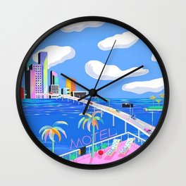Highway to City Wall Clock