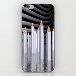pencils - white iPhone Skin