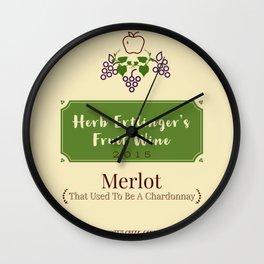 Herb Ertlinger's Fruit Wine Wall Clock