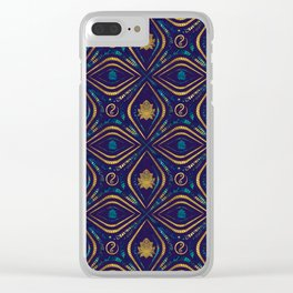 Lotus and OM symbol Luxury Pattern Clear iPhone Case