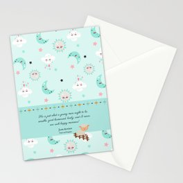 Just What a Young Man Ought to Be (Pride and Prejudice Quote) Stationery Cards
