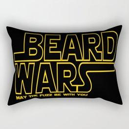 Beard Wars Funny Sci-Fi Design Rectangular Pillow