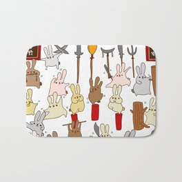 Every bunny was kung fu fighting Bath Mat