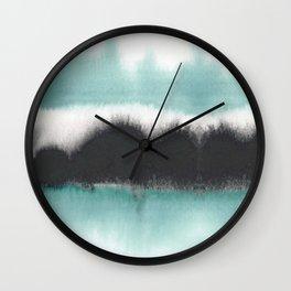 Aqua Drift Wall Clock