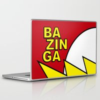 bazinga Laptop & iPad Skins featuring Bazinga by Bazingfy