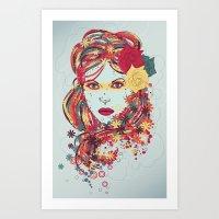 Bright Fashion Art Print