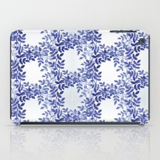Delicate watercolor pattern with leaves iPad Case