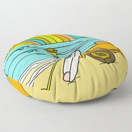 Retro Surf Days Single Fin Pick Up Truck Floor Pillow