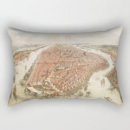 new york city old map Rectangular Pillow