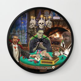 Our Favorite Monsters Playing Cards Wall Clock